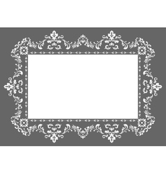 Ornament photo frame vector