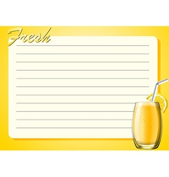 Line paper design with lemon drink vector
