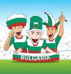 Group of bulgaria sport fans vector