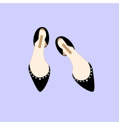 Black shoes fashion glamour shopping girl style vector