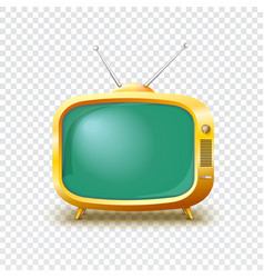 Old blank tv icon vector