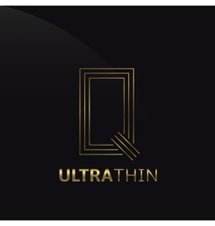 Ultrathin q letter vector