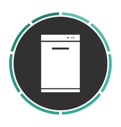 Dishwasher computer symbol vector