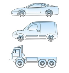 abstract cars vector image vector image
