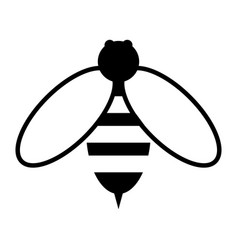 bee the black color icon vector image vector image