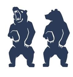 blue bear icon vector image