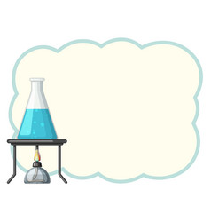 border template with chemical in beaker vector image