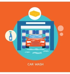 Business concept car wash best clean non stop auto vector