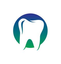 circle tooth dental healthcare logo vector image vector image