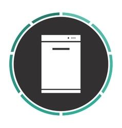 Dishwasher computer symbol vector