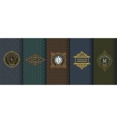 Elegant set of design elements labels icon vector