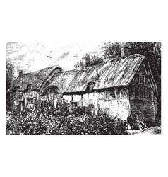 English farm house vintage vector