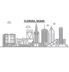 florida miami architecture line skyline vector image