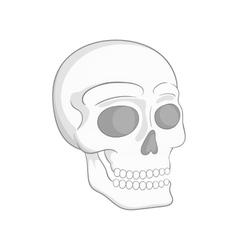 Human skull icon black monochrome style vector image vector image