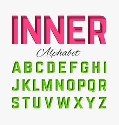 Inner shadow font vector