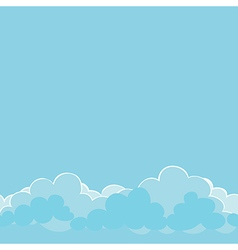 light blue clouds on the sky vector image