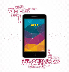 Mobile software application vector image