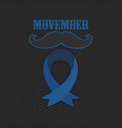 Movember cancer awareness event poster banner and vector