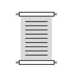 museum papyrus isolated icon vector image