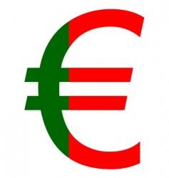 Portuguese euro vector