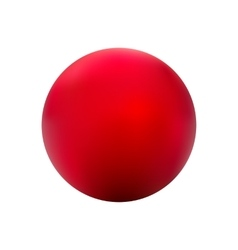 Red ball gradient vector image
