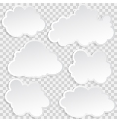 Set of clouds in the sky vector image vector image