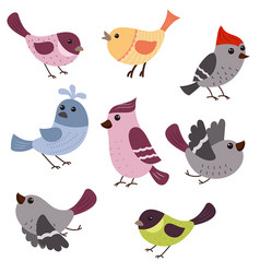Set of cute birds set of cute birds vector