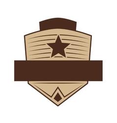 Shield icon retro label design graphic vector