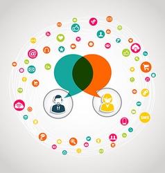 Social media communication concept vector
