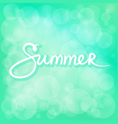 Summer time green bokeh background vector