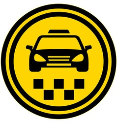 taxi round icon vector image