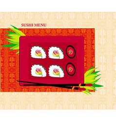 Template design of asian menu vector