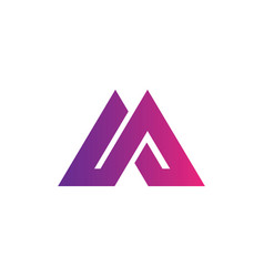 triangle business company logo vector image vector image