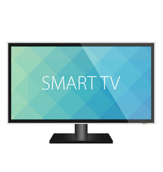 Tv flat screen realistic vector