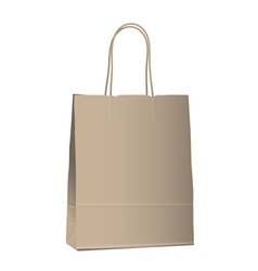 Empty shopping brown bag on white vector