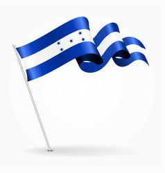 honduras pin wavy flag vector image