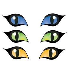 cats eye vector image