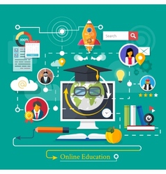 Online professional education vector