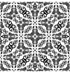 Geometric abstract seamless pattern black and vector