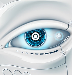Eye of the robot vector