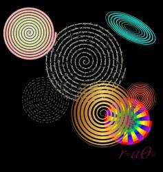 Archimedes spirals vector