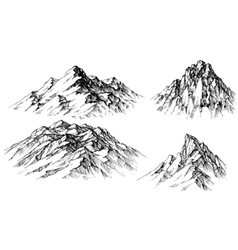 Artistic sketch of mountain ranges vector