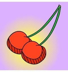 Cherry Pop art vector image