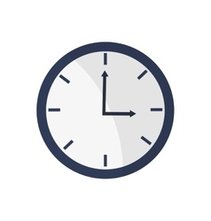 Blue simple clock  over white vector