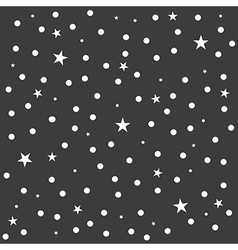 Star Polka Dot Dark Gray Background vector image