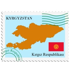 Mail to-from kyrgyzstan vector
