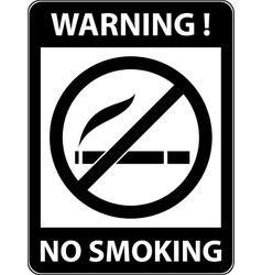 No smoking cigarette prohibited symbol vector