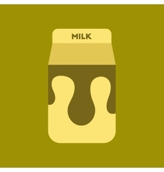 Flat icon on background coffee carton of milk vector