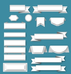 Paper ribbos and banners vector