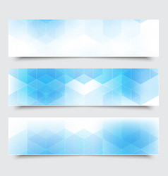 Abstract blue horizontal banners with vector